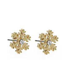 Snowflake earring - gold/ clear