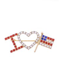 I Heart US Flag Pin
