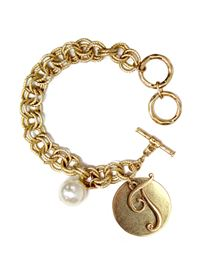"Monogram ""T"" Double Toggle Bracelet"