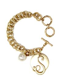 "Monogram ""S"" Double Toggle Bracelet"