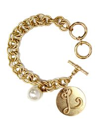 "Monogram ""L"" Double Toggle Bracelet"