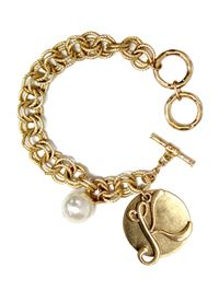 "Monogram ""K"" Double Toggle Bracelet"