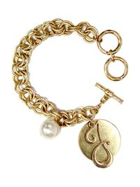 "Monogram ""J"" Double Toggle Bracelet"