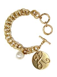 "Monogram ""H"" Double Toggle Bracelet"
