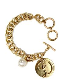 "Monogram ""D"" Double Toggle Bracelet"