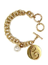 "Monogram ""C"" Double Toggle Bracelet"