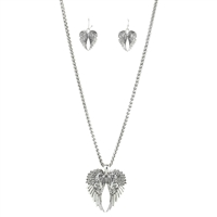 "Heat shaped Wings 27"" Necklace Set"
