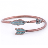 Boho Feather Arrow Cuff - copper burnish