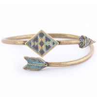 BOHO ARROW CUFF - BRASS BURNISH