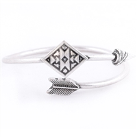 BOHO ARROW CUFF - SILVER BURNISH