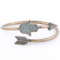 Hamsa Filigree Arrow Cuff