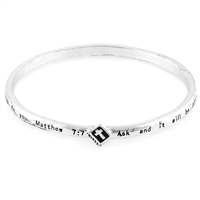 Matthew 7:7 Wire Bangle