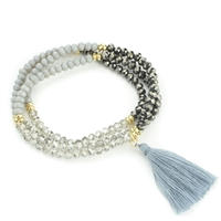 Glass Bead Wrap Around Bracelet With Tassel
