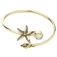 Star Fish Shell Crystal Cuff