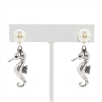 Seahorse Pearl Earrings