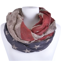 US Flag Infinity Scarf