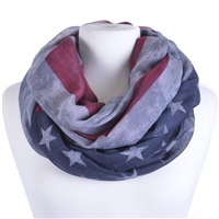 US Flag Infinity Scarf - Denim