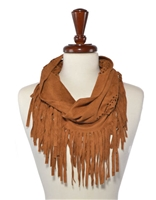 Boho Faux Suede Infinity Scarf
