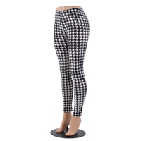 Houndtooth pattern leggings