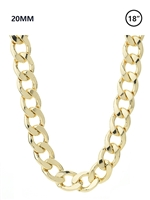 20 MM Curb Chain Necklace 18""