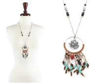 Heart Dream Catcher Necklace