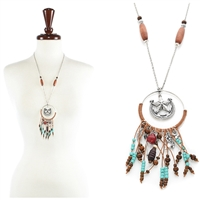 Lone star Dream Catcher Necklace