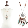 Lone star Dream Catcher Necklace - BRN / SB