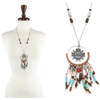 Flower Dream Catcher Necklace