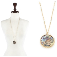 Abalone with Pearl Necklace
