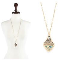 Abalone with Pearl Necklace - Y Abalone /Gold