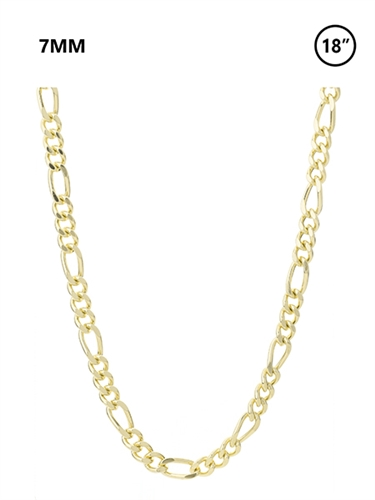 7 MM Figaro Chain 18""