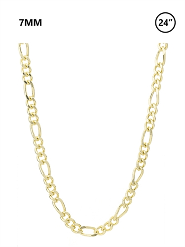7 MM Figaro Chain 24""
