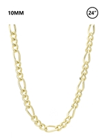 "10 MM Figaro Chain 24"" - gold"
