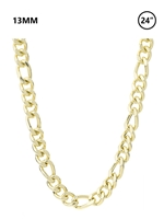 "13 MM Figaro Chain 24"" - gold"