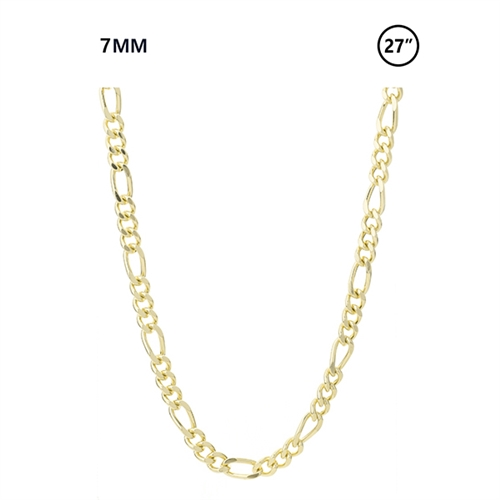 7 MM Figaro Chain 27""