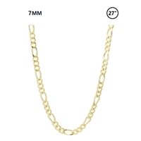 "7 MM Figaro Chain 27"" - gold"