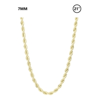"7mm Rope Chain 21"" necklace"