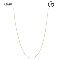 "1.2 MM Snake Chain 16"" Necklace"