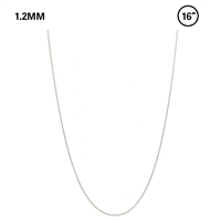 "1.2 MM Snake Chain 16"" Necklace - silver"