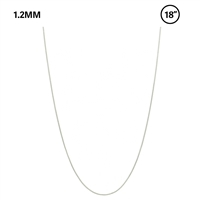 "1.2 MM Snake Chain 18"" Necklace"