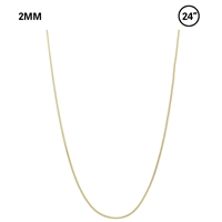 "2 MM Snake Chain 24"" Necklace"