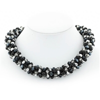 "Glass Bead Magnetic 17"" Choker"