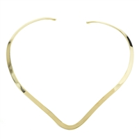 Angular Brass Choker Necklace