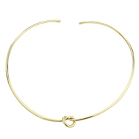 Knot Brass Choker Necklace