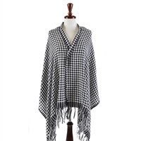 Houndtooth Woven Scarf and Shawl