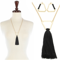 "BOHO With Tassel 24"" Necklace Set"