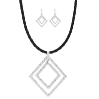 "Diamond 16"" Cord Choker Set"
