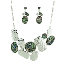 "Abalone 17"" Necklace Set"
