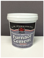 AW Perkins 2000 Degree High Temperature Black Furnace Cement Pint #42