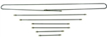 Steel Brake Line Kit, 67-68 Type 1, 6 Piece Kit, 113-698-721 or 113-698-700